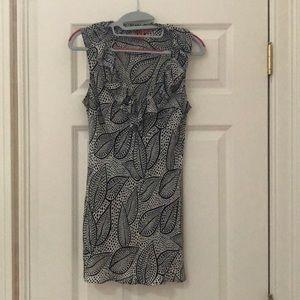 Leaf patterned Tory Burch silk ruffled blouse